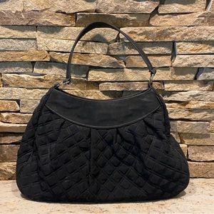 Vera Bradley black quilted fabric handbag